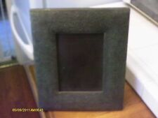wood picture frame metal sheet covered embossed/ 5 x 7 photo