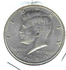 1989-P Philadelphia XF to Uncirculated Nickel Clad Copper Half Dollar Coin