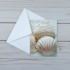 Greeting Note Cards Shells With Appreciation 6 Count Blank