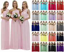 One Shoulder Bridesmaid Dress Long Wedding Evening Prom Party Dresses Size 6-18