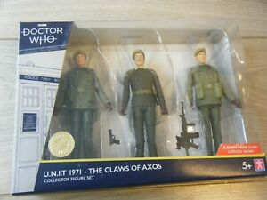 NEW SEALED DOCTOR WHO LTD EDITION UNIT 1971-THE CLAWS OF AXOS 3 FIGURE SET B+M