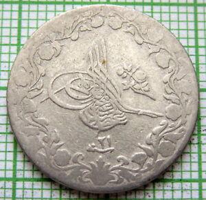 EGYPT ABDUL HAMID II AH 1293//21 - 1895 5/10 QIRSH