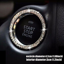 Auto Car Suv Decorative Silver Car Accessories Button Start Switch Diamond Ring