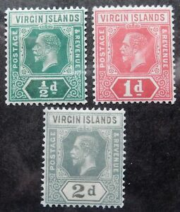 Virgin Is. Scott # 38-40, Mint Original Gum (HR)