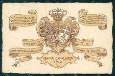 Militari Reggimentali IV Reggimento Genova Cavalleria 1916 cartolina XF1998