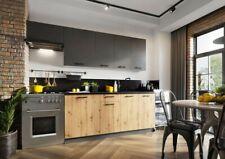 Küche Küchenzeile Land Traum 180/240cm braun grau