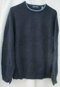 GRANT THOMAS 100% WOOL BLUE SWEATER - SIZE XL