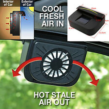 Solar Powered Auto Fan Car Window Windshield Air Vent Cooling System Cooler New