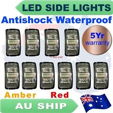 10X Clearance Amber Red ABS Super Bright Side LED Marker SAE truck Lamp AU Stock