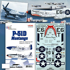 P-51 D Mustang Nose Art: 402 487 FS, 352 370 FG (1/32 decals, Superscale 320258)