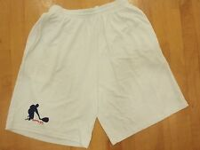 Racquetball Shorts (DryFit with 2 side pockets White, Mens Size Xl
