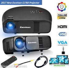3200Lumen 'LED Projector 1080P HD Home Theater Multimedia USB HDMI VGA AV Audio