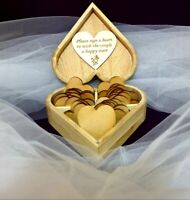 Wooden Wedding Wish Box, Personalised Guest Book Alternative Drop in Box Wishes