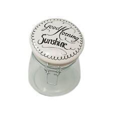 GLASS STORAGE JAR GOOD MORNING SUNSHINE 16CM X 17CM