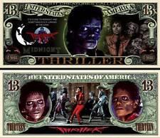 Michael Jackson Halloween Thriller Million Dollar Bill Novelty Money FREE Sleeve