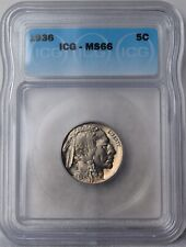 "1936 Buffalo Nickel ""ICG MS66"" *Free S/H After 1st Item*"