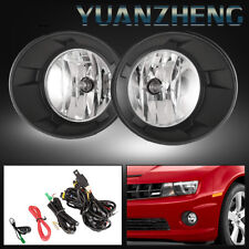 Fog Lights for Chevy Camaro 2010-2013 Clear Lens Bumper Lamps+Bulbs Black Cover