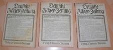 dachbodenfund 3x deutsche jäger zeitung ausg. A nr16/17/18 neumann heft 1925 alt