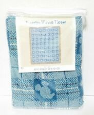 Disney Parks Mickey Mouse Head Woven Blue Tapestry Throw