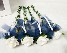 4x Sisaltüte Tischaufleger blau weiß Kommunion Konfirmation Jugendweihe