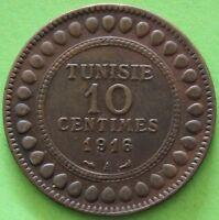 TUNISIE 10 CENTIMES 1916