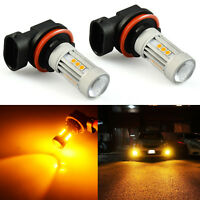 JDM ASTAR 2x H11 H8 High Power Amber Yellow 13-SMD LED Fog DRL Light Bulbs Lamps