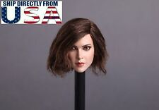 "NEW 1/6 Female Head Sculpt SHORT HAIR For 12"" PHICEN Hot Toys Figure USA SELLER"