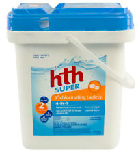 "hth Super 3"" Swimming Pool 4-in-1 Chlorinating Chlorine Tablets - 20 lbs"