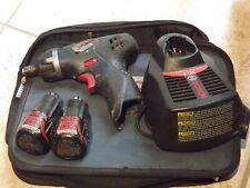 "Bosch 12-Volt Lithium-Ion 1/4"" Driver 2 Batteries + Charger & Bag"