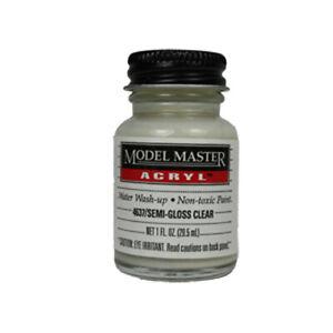 Model Master 4637 Clear - Semi-Gloss 4637 - 1 oz. Acrylic Paint Top Coat Testors