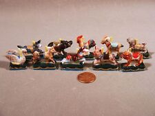 Merry-Go-Round CIrcus Carousel Animals Porcelain Miniatures French Feves