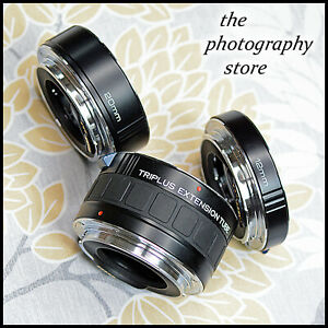 MACRO Close Up TRIPLUS Canon EOS EF Digital SLR Extension Tube set NOT EF-S