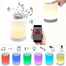 Inalámbrico Bluetooth Táctil LED Lámpara de dormitorio y Altavoz Con Despertador