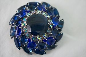 Vintage Large Juliana Style AB Rhinestone Crystal Brooch Pin Rare*****