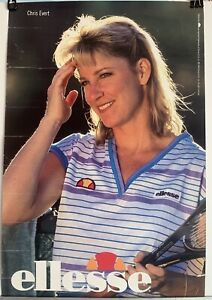 "VTG Chris Evert Ellesse Clothing Endorsement Tennis Poster 1989 12"" x 18"" Rolled"