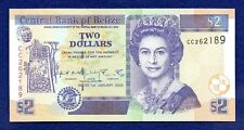 Belize, 2002 $2 Banknote, Two Dollars, Uncirculated (Ref. b0984)