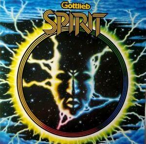 Spirit Pinball Flyer Original Gottlieb 1982 Game Fantasy Artwork Sheet Promo