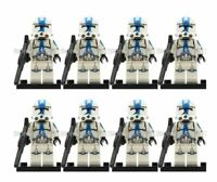 CLONE TROOPER ARMY STAR WARS CUSTOM Lego MINI FIGURE 501ST ARMY 8 MINIFIGURES
