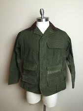 Vintage 50s Hinson Waxed Canvas Hunting Shooting Jacket 40 Made In USA Filson