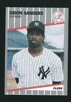 DEION SANDERS 1989 TOPPS FLEER UD ROOKIE # U-53  NY YANKEES  BASEBALL CARD