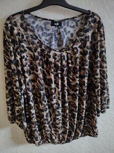 Wallis animal print  sequinned blouse large