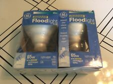 GE 18011 Twin Pack 2 Light Bulb 65R30 65W 65 Watts White Flood Recessed
