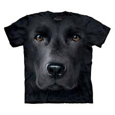Black Lab Face Dogs T Shirt Adult Unisex The Mountain Large 1032552