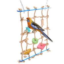 Perroquet Perruche Oiseaux Suspendue Filet Corde Escalade Cage Jouet Jeu Décor