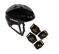 Razor V17 Youth Skateboard / Scooter Sport Helmet w/ Knee & Elbow Pads Set