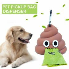 Outdoor Portable Waste Bag Dispenser Carrier Dog Poop Bag  Holder Cute