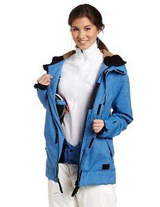 O'NEILL women's 10K Sketch Freedom Series Blue snow board Jacket size Small nwt
