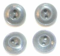 4 Gray China Buttons 2 Sew Thru Holes Antique Historical Clothing Reenactors #1