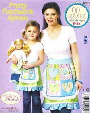Mommy & Me Half Apron with Ruffle Sewing Pattern Women's Kid's Doll Size UNCUT