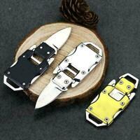 Keychain Mini Folding Pocket messer Outdoor Survival Steel Keyring-Multifun B6G1